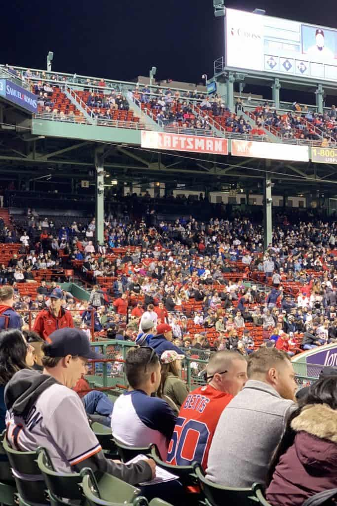Obstructed view seats at Fenway Park