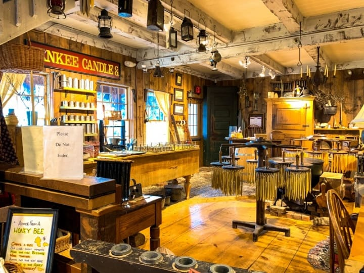 Yankee Candle Village candle making museum